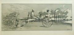 Amor, Tod und Jenseits - Original Etching by M. Klinger - 1881