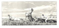 Chased Centaur - Original Etching and Aquatint by Max Klinger - 1881