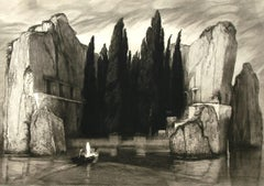 Die Toteninsel (The Isle of the Dead) - by M. Klinger after A. Bocklin - 1890