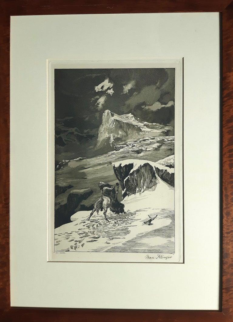 Kämpfende Kentauren - Original Etching by M. Klinger - 1881 - Symbolist Print by Max Klinger