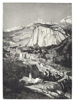 Moon Night - Original Etching and Aquatint by Max Klinger - 1881