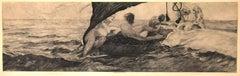 Venus in Muschelwagen - Original Etching by E. Einschlag after M. Klinger - 1907