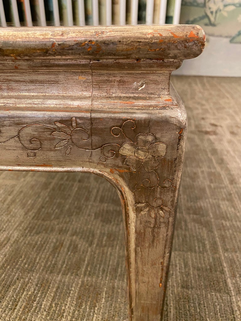 Max Kuehne Silver leaf Coffee Table In Good Condition For Sale In New York, NY