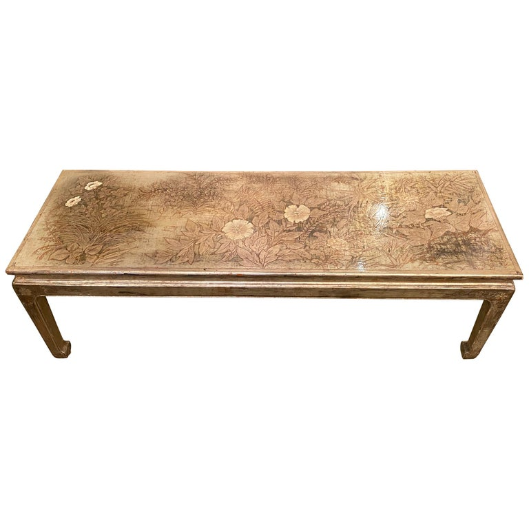 Max Kuehne Silver leaf Coffee Table For Sale