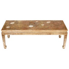 Max Kuehne Silvered Chinoiserie Coffee Table