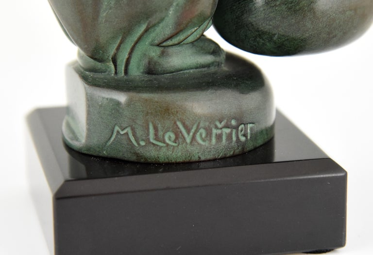 Max Le Verrier Art Deco Monkey Bookends France, 1930 For Sale 5