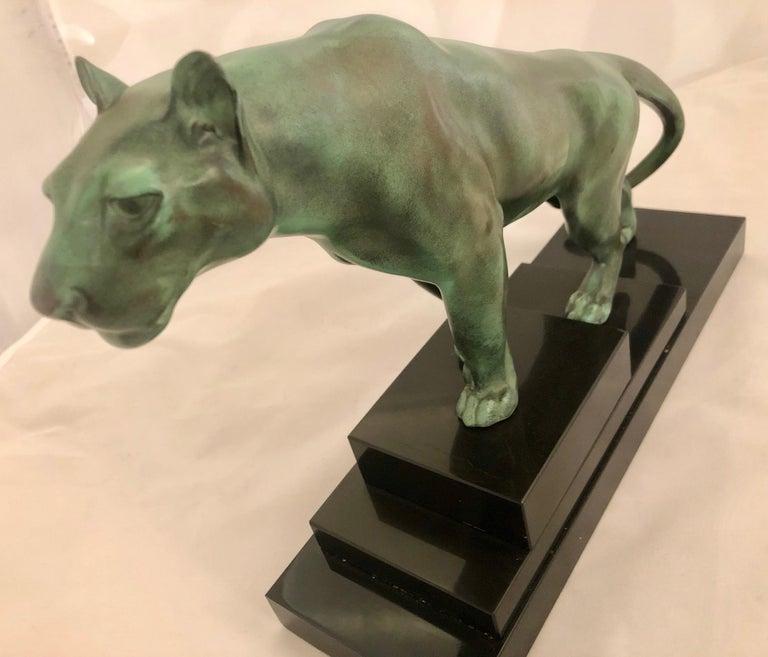Max Le Verrier Art Deco Sculpture of a Panther, France, 1930 For Sale 4