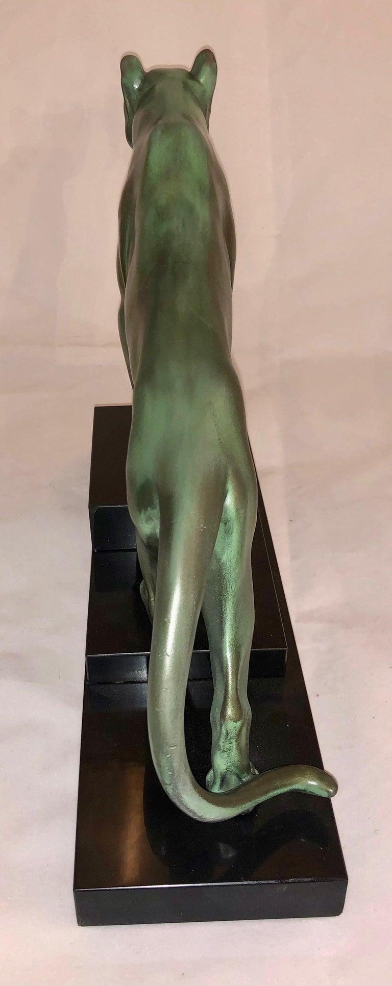 Max Le Verrier Art Deco Sculpture of a Panther, France, 1930 For Sale 5