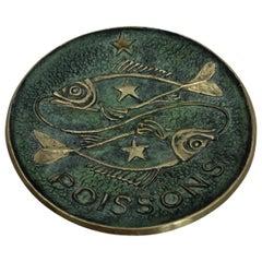 Max Le Verrier Bronze Key Holder Vide Poche, February 21-March 20 Zodiac