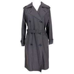 Max Mara Blue Cotton Double Breasted Trench Raincoat