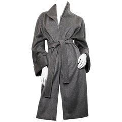 Max Mara Cashmere grey belted coat