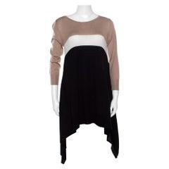 Max Mara Colorblock Asymmetric Silk Cashmere Sweater M