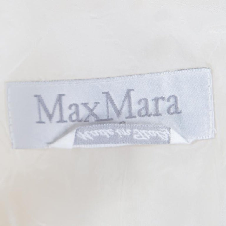 Max Mara Cream Linen Blazer L In Good Condition For Sale In Dubai, Al Qouz 2