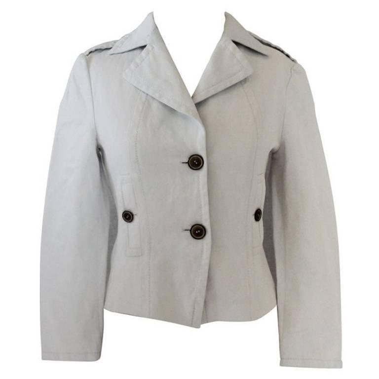 Max Mara Ivory Cotton Jacket - 4