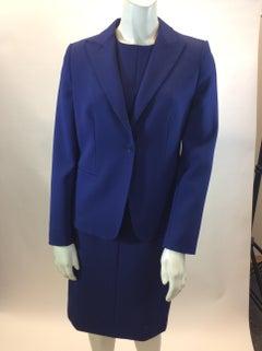 Max Mara Navy Blue Two Piece Dress Set