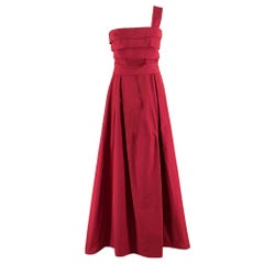 Max Mara Strapless One-shoulder Dress 8 UK