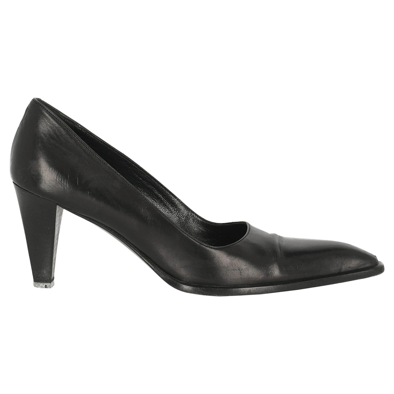 Max Mara Women  Pumps Black Leather IT 38