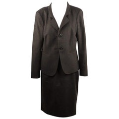 Max Mara Wool and Angora Skirt Suit Set