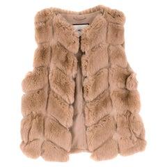Max & Moi Rabbit Fur Vest 34