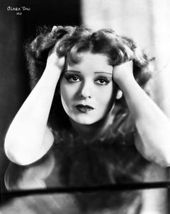 Clara Bow Resting on Hands Fine Art Print