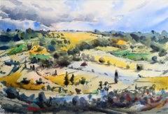 Max Panks, Selsley Church, Gloucestershire, Original Landscape Painting