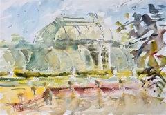 The Palm House Of Kew Gardens, Max Panks, Original Landscape Painting