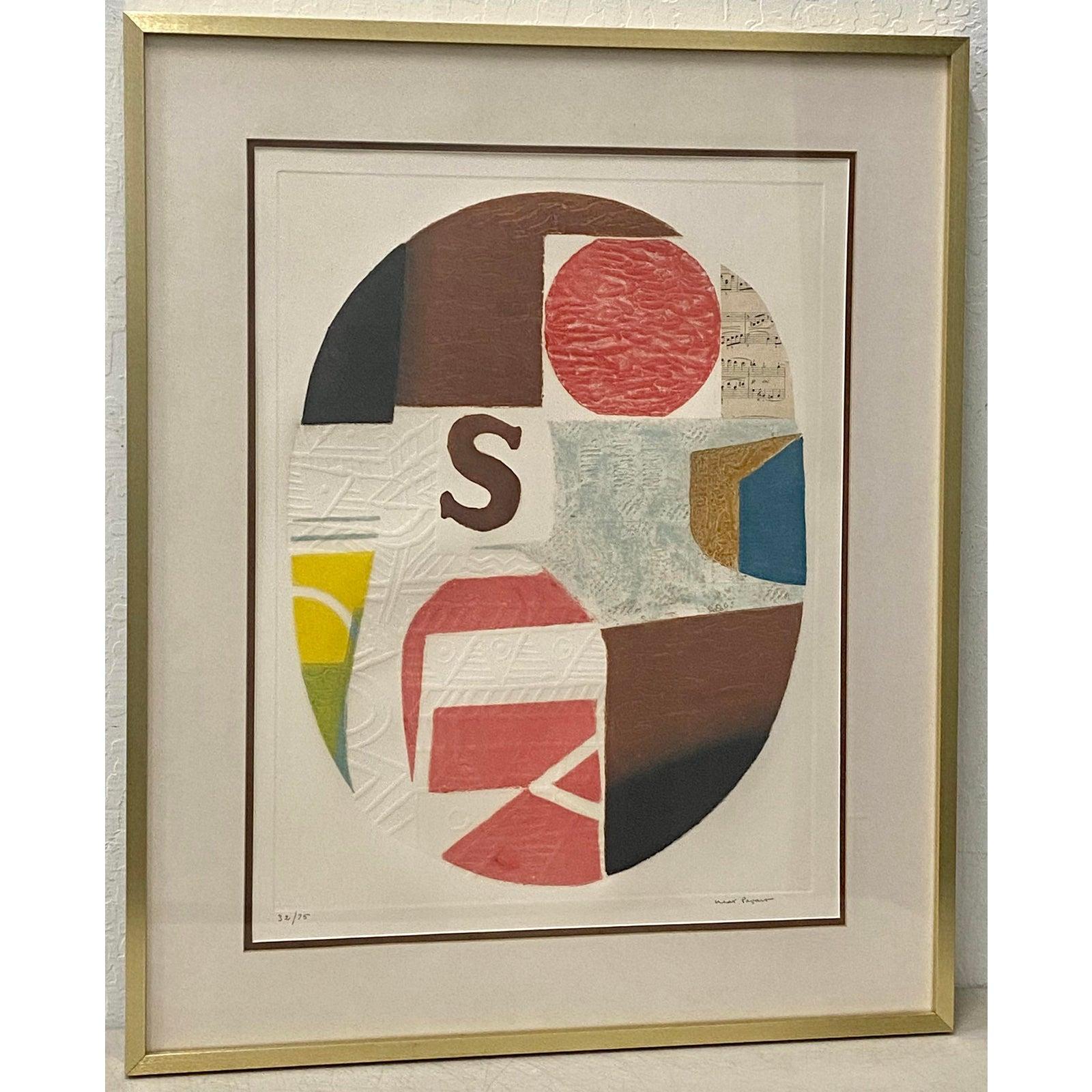 Max Papart (1911 - 1994) Carborundum and Collage c.1970