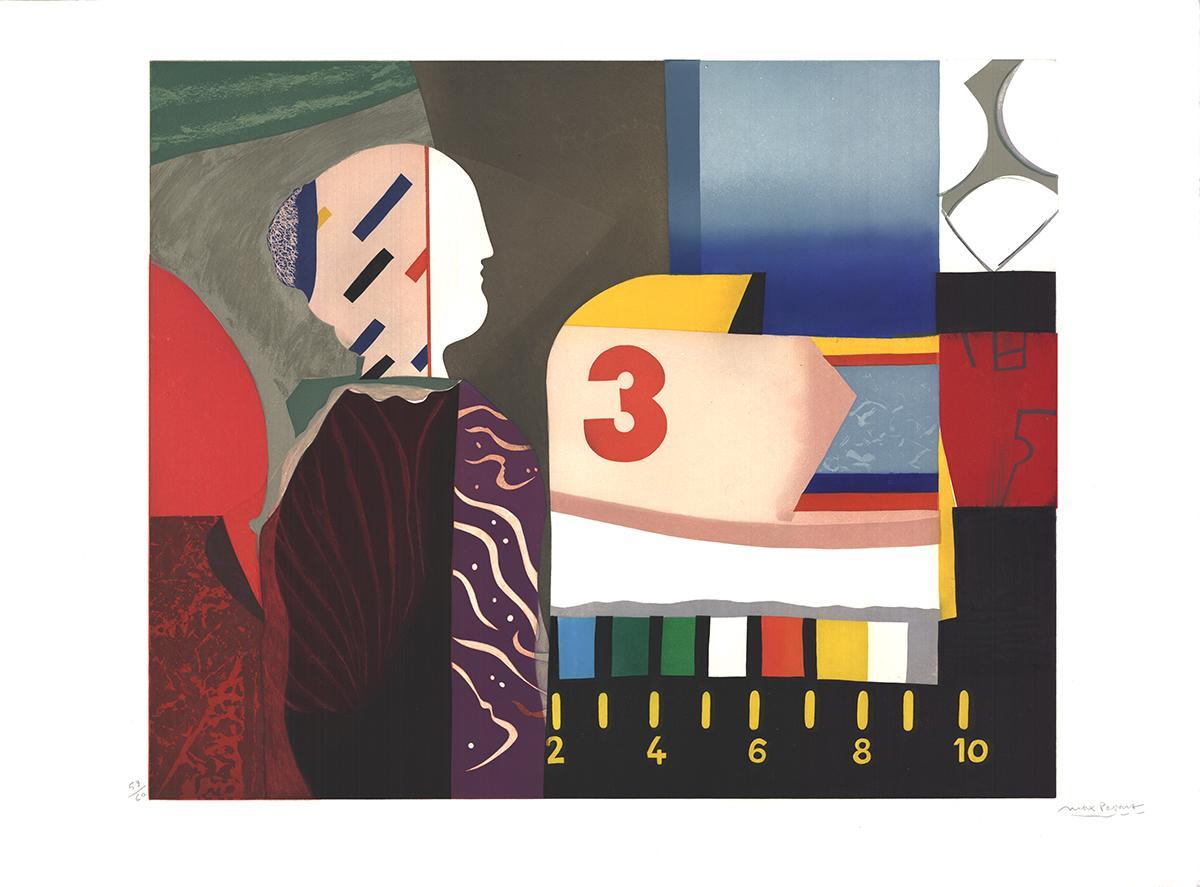 "Max Papart-Chromatic Composition-30"" x 40.25""-Aquatint-1981-Contemporary"
