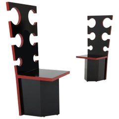 Sculptural chairs by Max Papiri for Mario Sabot