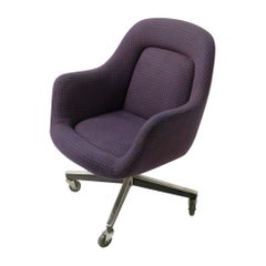 Max Pearson Swivel Desk Chair for Knoll possibly Alexander Girard Fabric
