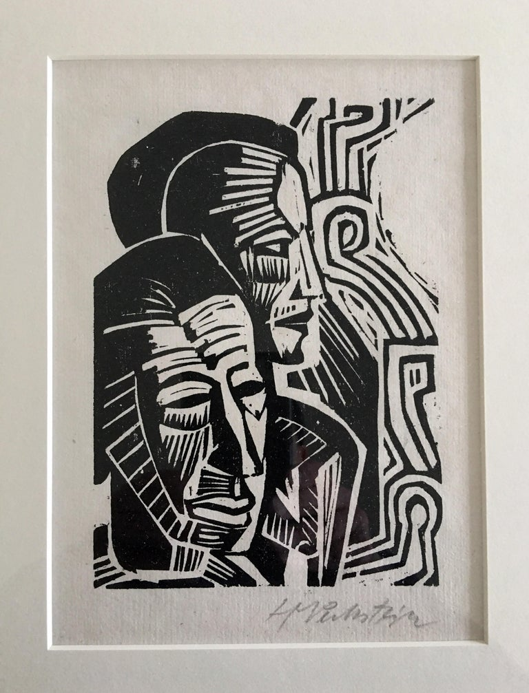 Two Heads - Print by Max Pechstein