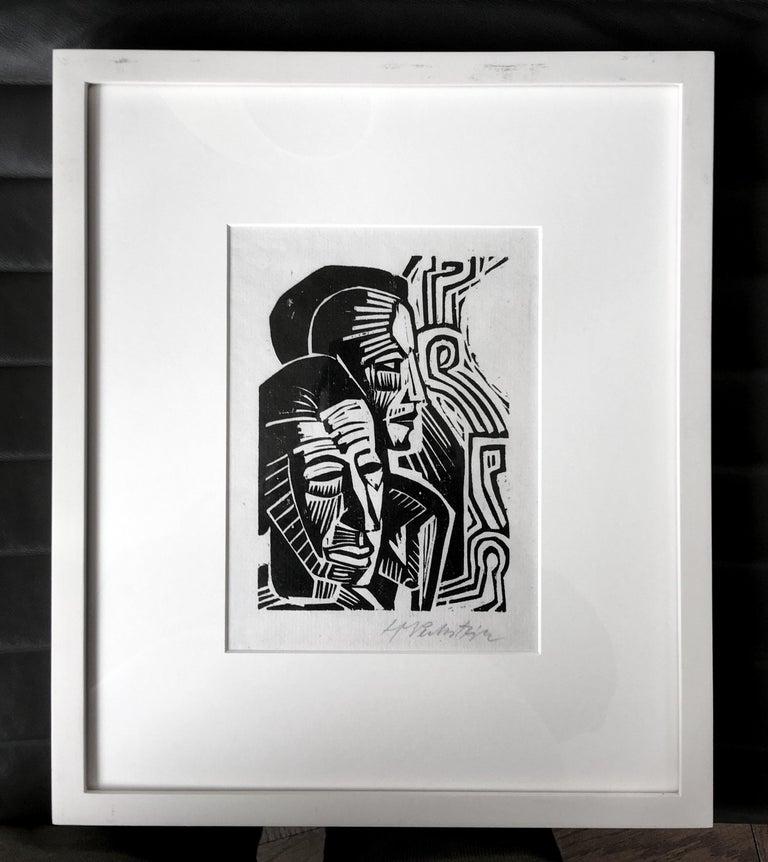 Max Pechstein Portrait Print - Two Heads