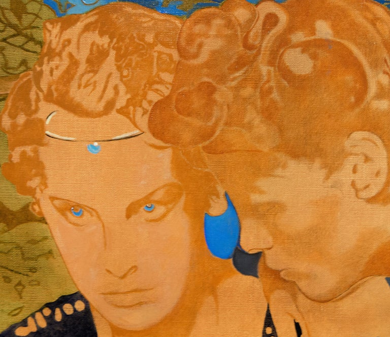 Psiche e Amore - Contemporary Painting by Max Pellegrini