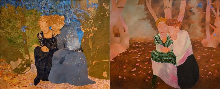 Max Pellegrini Figurative Painting - Psiche e Amore