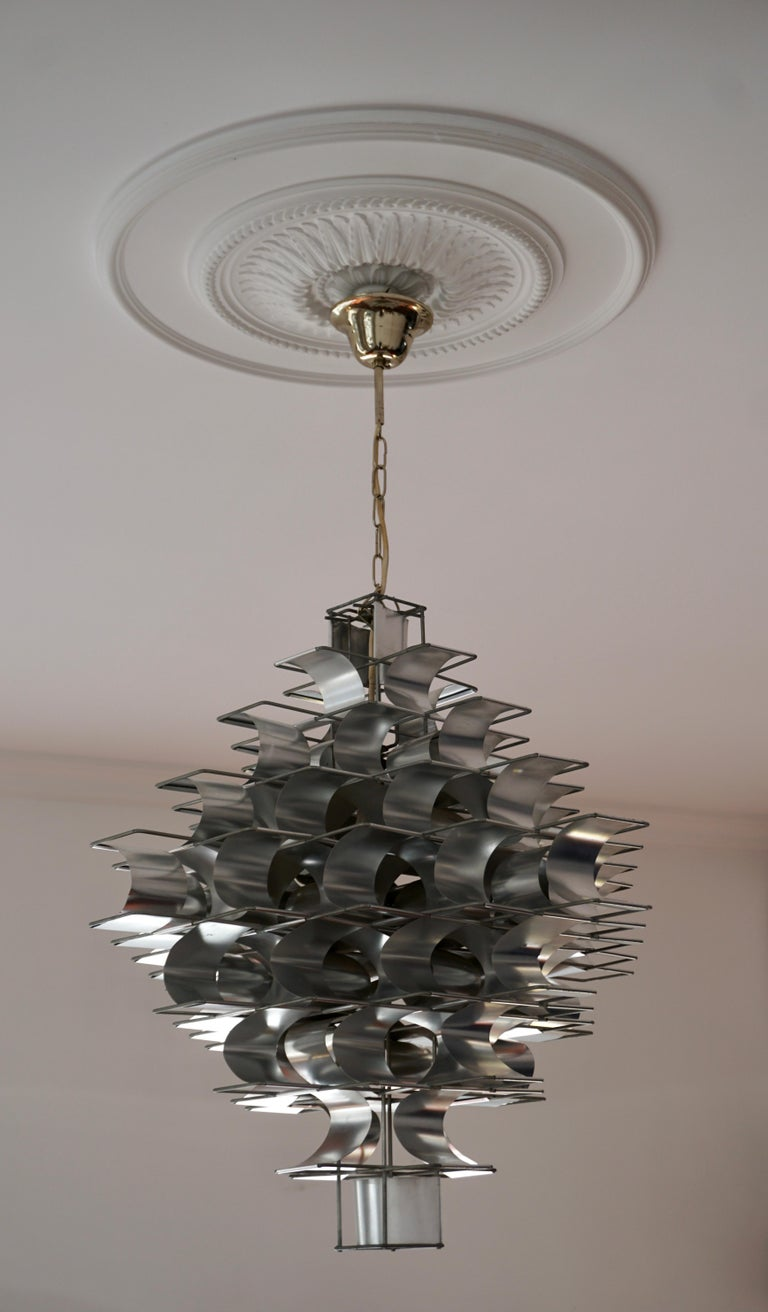 French Two Max Sauze Cassiopé Chandelier, 1970s For Sale