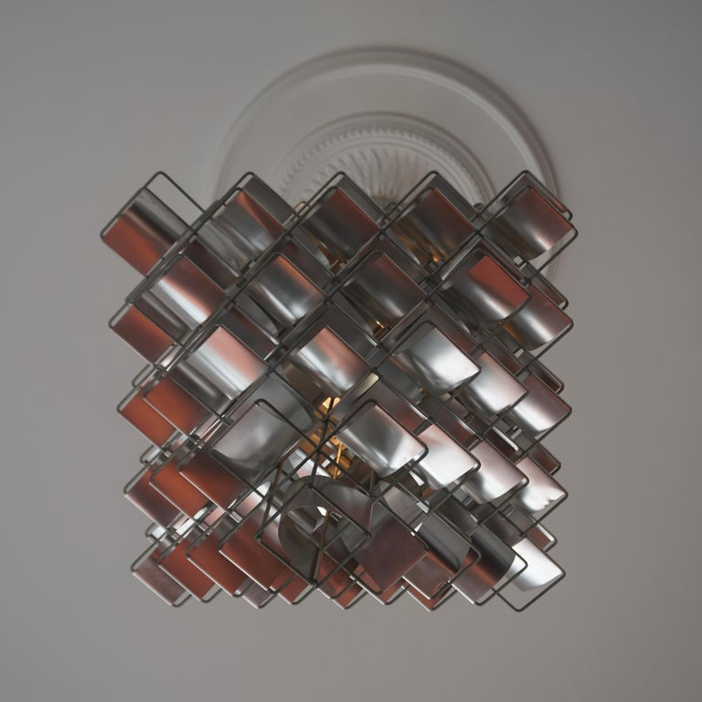 20th Century Two Max Sauze Cassiopé Chandelier, 1970s For Sale