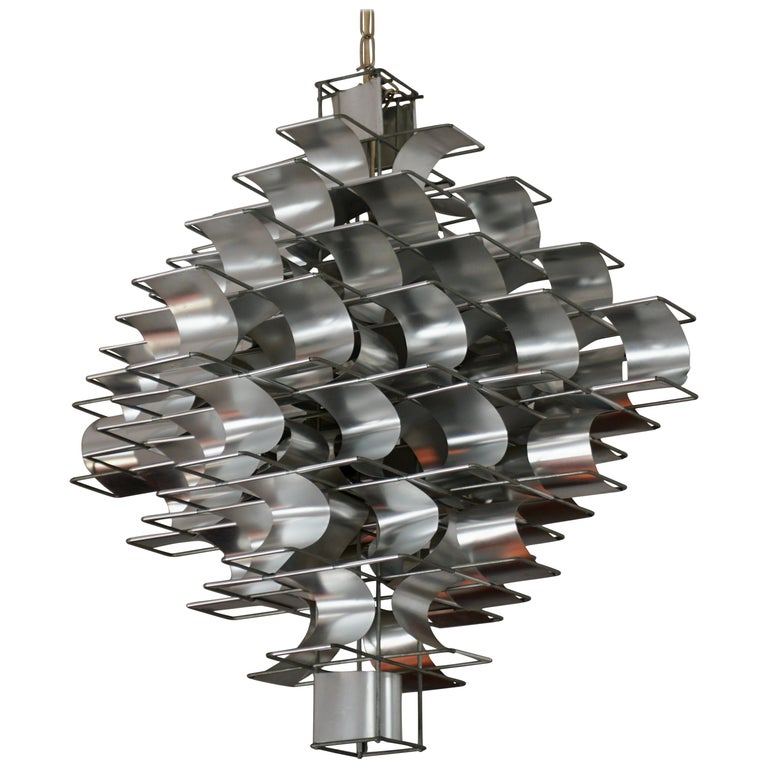 Two Max Sauze Cassiopé Chandelier, 1970s For Sale