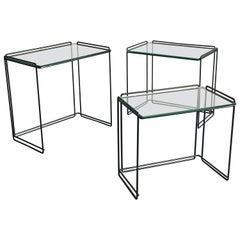 "Max Sauze Designer ""Isocele"" Nesting Tables, Minimalist"