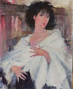 Lady With White Shawl