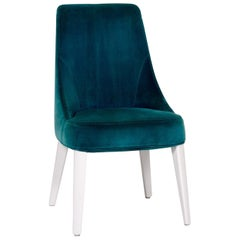 Maxalto by B&B Italia Velvet Chair Turquoise
