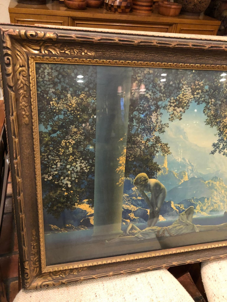 Romantic Maxfield Parrish Famous Large Framed Print of