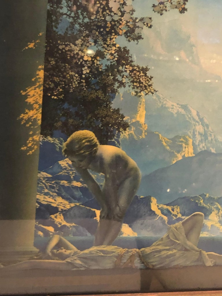 North American Maxfield Parrish Famous Large Framed Print of