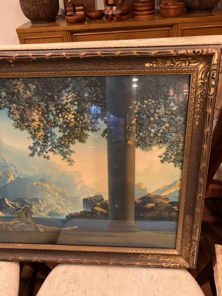 Early 20th Century Maxfield Parrish Famous Large Framed Print of