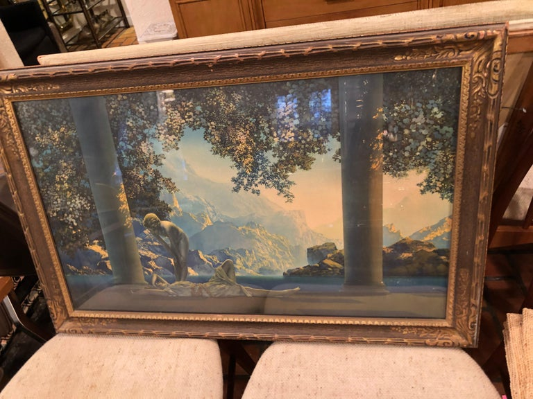 Glass Maxfield Parrish Famous Large Framed Print of
