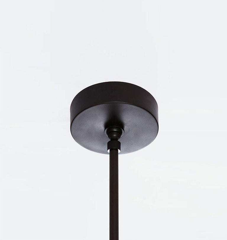 Modern Maxhedron Vertical Pendant Light in Bronze by Bec Brittain for Roll & Hill For Sale