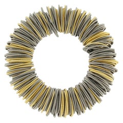 Maxi One Stainless Steel and Gold-Plated Cuff Bracelet