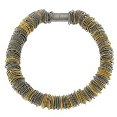 Maxi One Stainless Steel and Gold-Plated Necklace