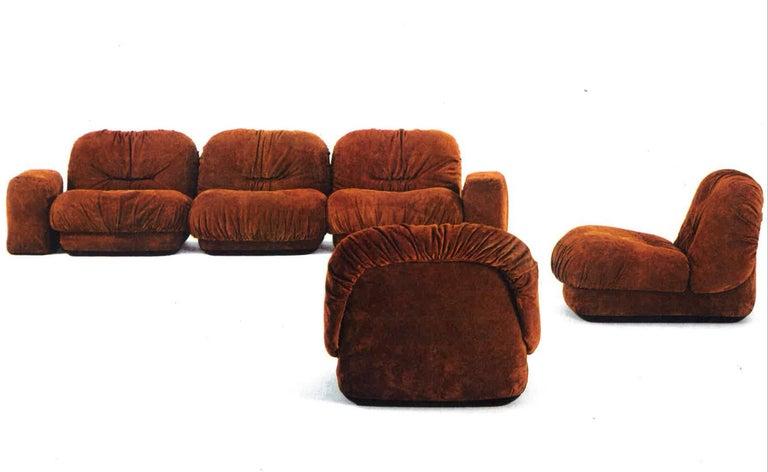 Maxijumbo Lounge Seating by Alberto Rosselli for Saporiti For Sale 8
