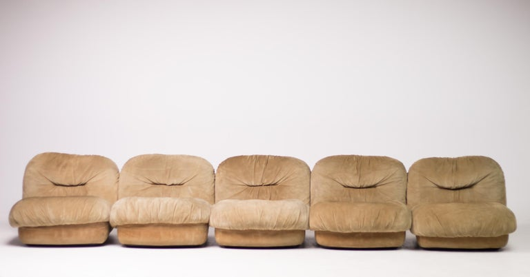 Mid-Century Modern Maxijumbo Lounge Seating by Alberto Rosselli for Saporiti For Sale