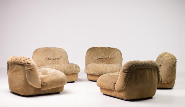 Italian Maxijumbo Lounge Seating by Alberto Rosselli for Saporiti For Sale